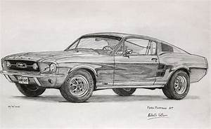 Ford Mustang 1967 Drawing