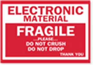 fragile shipping labels sku d1045 With electronic shipping label