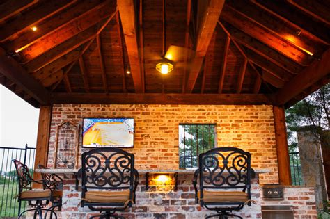 frisco tx  orleans style outdoor kitchen cabana