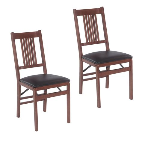 stakmore folding chairs stakmore 4533v true mission folding chair set of 2 at atg stores