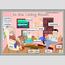 Living Room Things Vocabulary