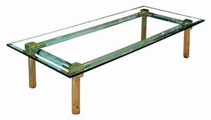 sold lucite and gold plate coffee table beveled glass With lucite gold coffee table