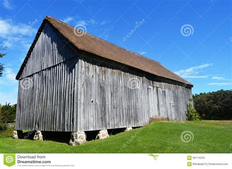 Large Wooden Barn Royalty-free Stock Photo