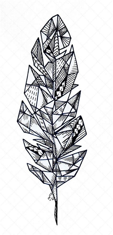 feder vorlage feder vorlage viele striche rauten polygone
