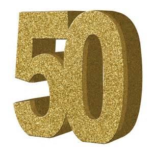 Gold Glitter Number 50
