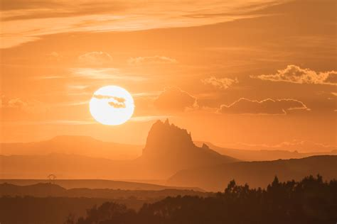 shiprock sunset west  pinon mesa nm cornerstone