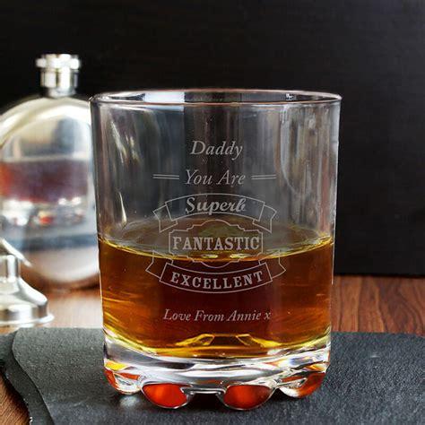 personalised typography whisky glass buy  prezzyboxcom