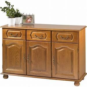 buffet bas chene 3 portes 3 tiroirs beaux meubles pas chers With deco cuisine avec buffet chene clair