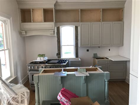 colourful kitchen cabinet install edgecomb gray wythe blue cambria ella  leslie style