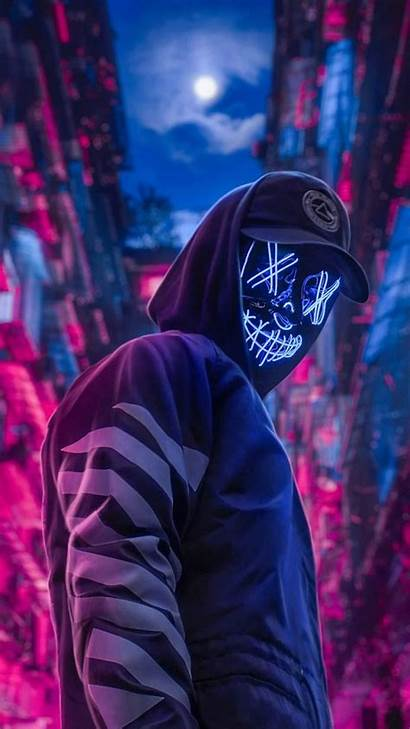 Mask Neon Purge Led Wallpapers Backgrounds Android