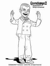 Coloring Slappy Goosebumps Play Halloween sketch template