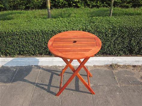 hardwood wooden folding garden patio table folding