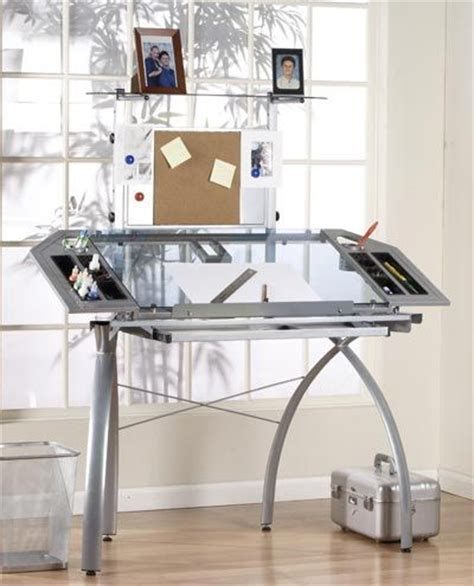 studio rta design glass top futura tower drawing table