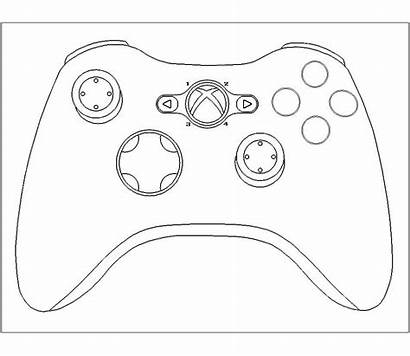 Xbox Controller Template Playstation Cake Templates Drawing