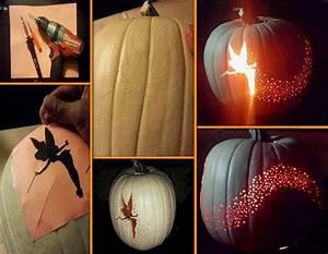 tinkerbell pumpkin template free - tinkerbell pumpkin carving creative ideas
