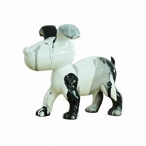 Deco Noir Et Blanc : objet d co noir et blanc petit chien design ~ Melissatoandfro.com Idées de Décoration