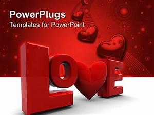 Powerpoint template love written in a stylish way with a for Power plugs powerpoint templates