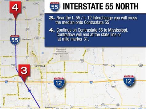 north contraflow maps