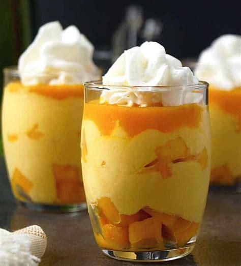 mousse mangue dessert au thermomix delice cremeux pour