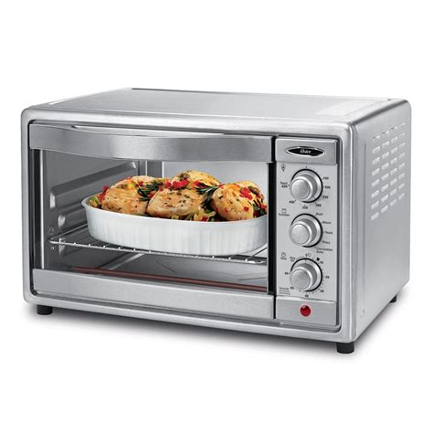 How To Use A Convection Toaster Oven by Oster 174 6 Slice Convection Toaster Oven Brushed Stainless