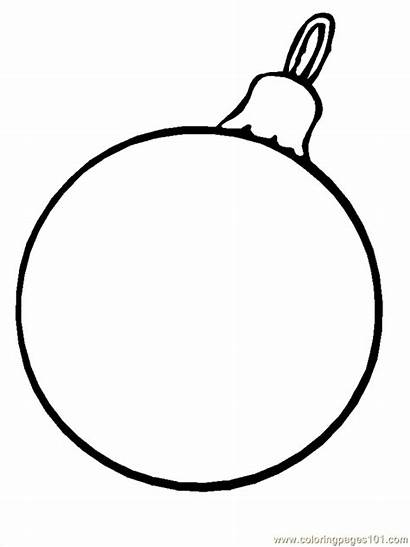 Christmas Ornaments Coloring Pages Printable Ornament Coloringpages101