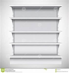 White Supermarket Shelves Stock Vector - Image: 44321556