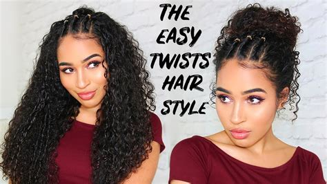 easy  twists hairstyle  curly hair lana summer