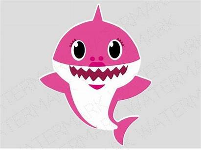 Shark Svg Cricut Mom Silhouette Birthday Cutout