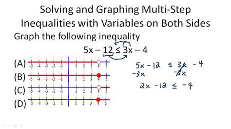 Multistep Inequalities  Ck12 Foundation