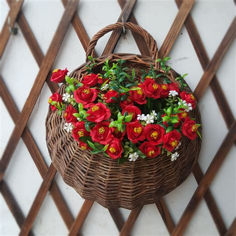 wicker wall hanging baskets perfect hanging baskets craft