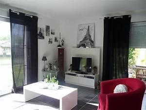 Salon Gris Blanc : d co salon blanc gris noir ~ Dallasstarsshop.com Idées de Décoration