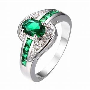 May Birthstone Emerald Ring - BlazeMall