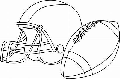 Football Clip Line Rugby Ball Clipart Coloring