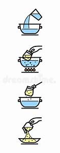 Cooking Instructions Stock Vector  Illustration Of