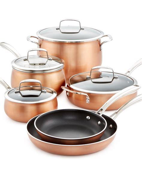 belgique copper translucent  piece cookware set copper kitchen cookware set pots  pans sets