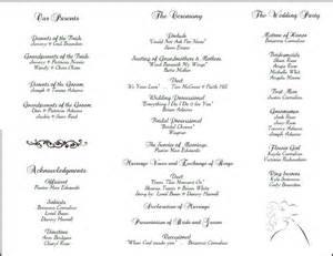 wedding reception program template sle wedding reception program just b cause