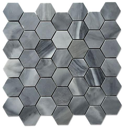 marble hexagon floor tile uk graystoke 2x2 quot hexagon honeycomb honed mosaic floor wall tile
