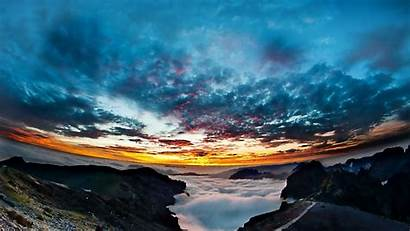 Panorama Sky Sunset Height Night 1080p Background