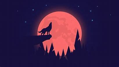 Wolf 4k Moon Night Howling Wallpapers 1080