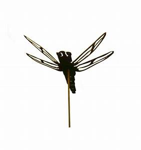Rostige Dekoidee Libelle Gartenstecker Aus Metall