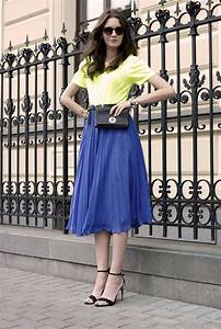 Blue Skirts Outfit Combinations 2018 | FashionTasty.com