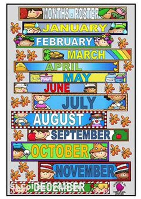 months images months   year classroom