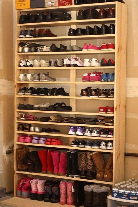 simple homemade shoe rack guide