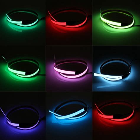neon signs for home decor 1m electroluminescent el wire glowing led flat