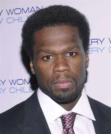 """Curtis """"50 Cent"""" Jackson Short Curly Casual Afro Hairstyle"""