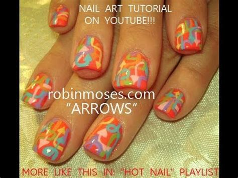 nail art tutorial  short nails diy arrow graffiti