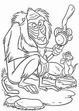 Coloring Monkey Baboon Cartoon sketch template