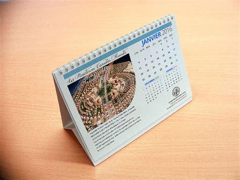 calendrier de bureau chevalet pas cher enti 232 rement personnalisable
