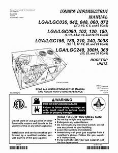 Lennox Package Units Both Units Combined  Manual L0806704
