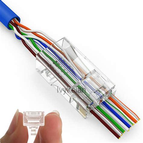 200pcs ez rj45 connector cat6 cat5e 8p8c rj45 utp terminals ebay